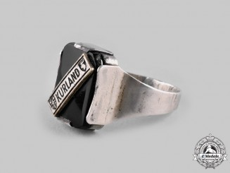 Germany, Third Reich. A Kurland Silver Campaign Ring