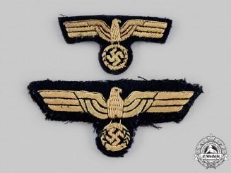 Germany, Kriegsmarine. A Breast Eagle & Cap Eagle
