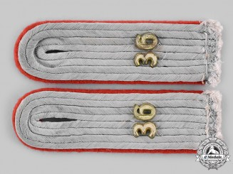 Germany, Heer. A Pair of Artillery Leutnant Shoulder Boards