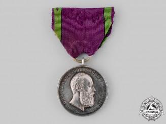 Saxe-Meiningen, Grand Duchy. A Saxe-Ernestine House Order, Silver Merit Medal, by Friedrich Ferdinand Helfricht