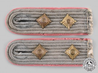 Germany, Heer. A Pair of Hauptmann Panzer Shoulder Boards