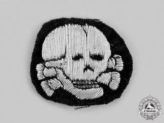 Germany, SS. A Waffen-SS Officer's Converted Cap Insignia