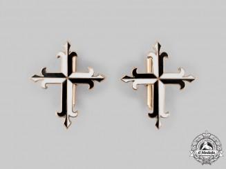 International. An Order of Preachers Gold Cufflinks Pair