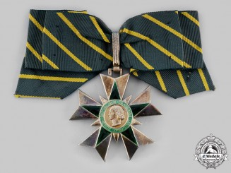 France, IV Republic. An Order of Merit for Service to Veterans, I Class Commander, by Arthus Bertrand, c.1955