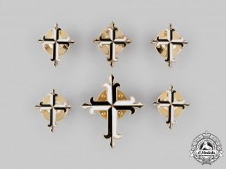 International. An Order of Preachers Six Lapel Badges in Gold