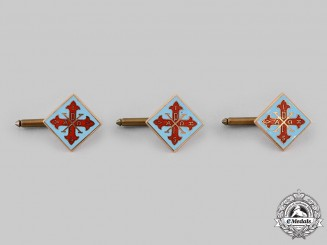 International. Three Sacred Military Constantinian Order of Saint George Cufflinks in Gold