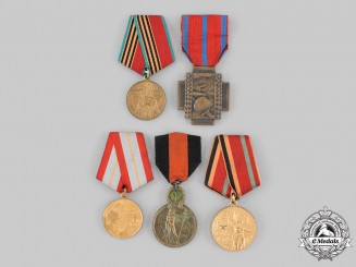 Belgium, Kingdom; Russia, Soviet Union. Five Awards & Decorations