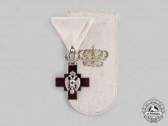 Serbia, Kingdom. A Cross of the Red Cross Society with Case, c.1900