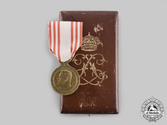 Monaco, Kingdom. A Medal of Honour for Work with Case of Issue, c.1923