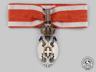 Serbia, Kingdom. An Order of the White Eagle, III Class Commander, by G.A. Scheid, c.1905