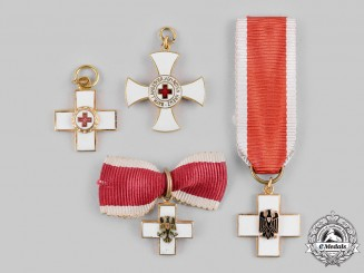 Germany, Federal Republic. A Lot of German Red Cross (DRK) Decoration Miniatures, 1957 Versions
