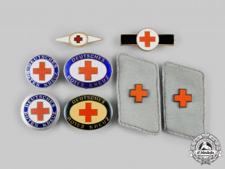 Germany, DRK. A Lot of Red Cross Badges and Insignia