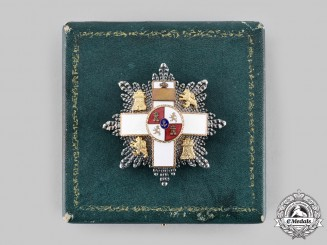 Spain, Franco. An Order of Military Merit, II Class Star with Case, c.1950