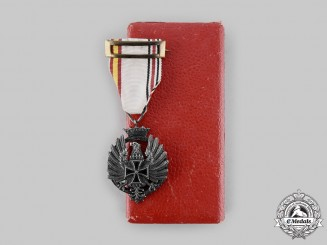 Spain, Fascist State. A Medal for Russian Campaign, Officer Version, Cased, c.1943