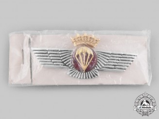 Spain, Fascist State. A Spanish Air Force Parachutist's Qualification Badge c.1960