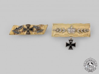 Germany, Imperial. A Pair of First War Trench Art Badges