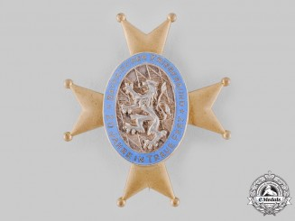 Germany, Weimar Republic. A Veterans Association 20-Year Membership Badge by Deschler & Sohn