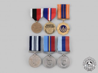 Rhodesia, South Africa, United Kingdom, United States. A Lot of Six Medals