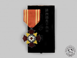 Japan, Occupied Manchukuo. A Red Cross Merit Decoration, c.1938