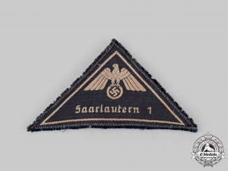 Germany, DRK. A German Red Cross (DRL) Saarlautern District Enlisted Sleeve Insignia