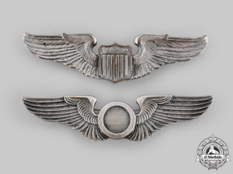 United States. Two Army Air Force Badges, c. 1942