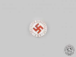Germany, NS-Frauenschaft. A National Socialist Women's League (NS-Frauenschaft) Children's Group Badge by Steinhauer & Lück