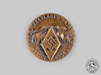 Germany, HJ. A 1934 Paderborn Camp Badge
