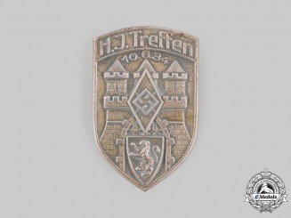Germany, HJ. A 1934 Braunschweig Meeting Badge