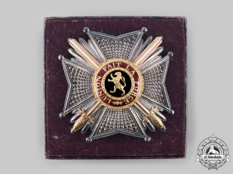 Belgium, Kingdom. An Order of Leopold, Officer's Star with Case, by C.J. Buls, c.1900