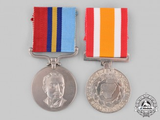 Nigeria, Rhodesia. Two Medals & Awards