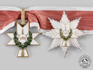 Croatia, Independent State. An Order of King Zvonimir, I Class Grand Officer with Oak Leaves, by Braća Knaus, c.1942