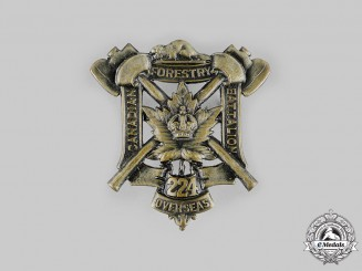 "Canada, CEF. A 224th Infantry Battalion ""Canadian Forestry Battalion"" Cap Badge, c.1916"
