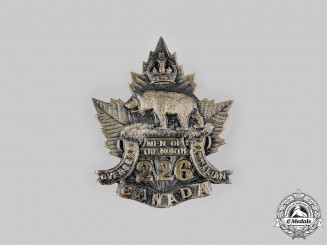 "Canada, CEF. A 226th Infantry Battalion ""Men of the North"" Cap Badge, by Dingwall, c.1916"