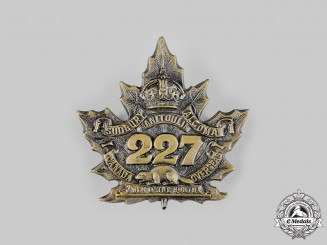 "Canada, CEF. A 227th Infantry Battalion ""Men of the North"" Cap Badge, by J.D.Bailey, c.1916"