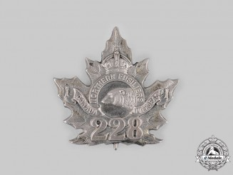 Canada, CEF. A 228th Infantry Battalion Officer's Cap Badge,  by J.D.Bailey, c.1916