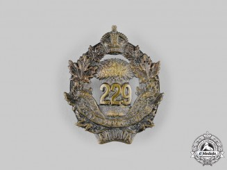 Canada, CEF. A 229th Infantry Battalion Cap Badge, by Crichtons, c.1916