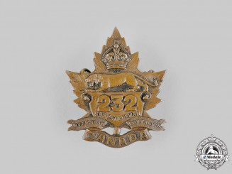 Canada, CEF. A 232nd Infantry Battalion Cap Badge, by Dingwall, c.1916