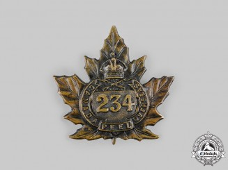 "Canada, CEF. A 234th Infantry Battalion ""Peel Battalion"" Cap Badge, by Ellis, c.1916"