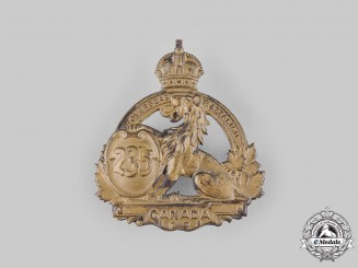 Canada, CEF. A 235th Infantry Battalion Cap Badge, c.1916