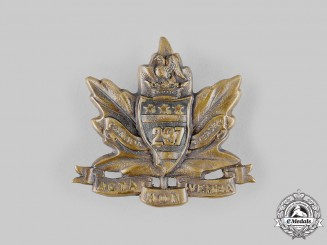 Canada, CEF. A 237th Infantry Battalion Cap Badge, c.1916