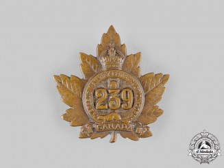 "Canada, CEF. A 239th Infantry Battalion ""Railway Construction Corps"" Cap Badge, by Birks, c.1916"