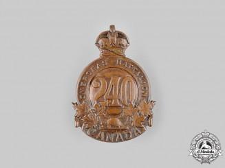 "Canada, CEF. A 240th Infantry Battalion ""Lanark and Renfrew Battalion"" Cap Badge, c.1916"
