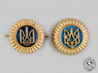Ukraine. Two General Government Police Cap Badges, c.1942
