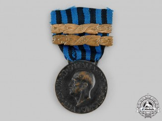 Italy, Kingdom. A Medal for Military Operations in East Africa with Two Clasps