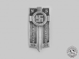 Germany, Weimar Republic. A 1932 Reich Youth Day Badge by Ferdinand Hoffstätter