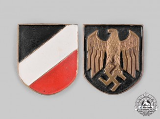 Germany, Heer. A Set of Pith Helmet Insignia