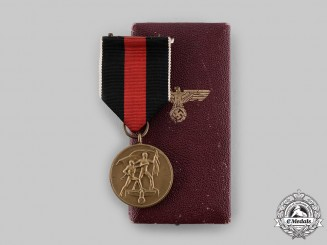 Germany, Third Reich. A Sudetenland Medal, with Case