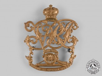 Canada, Dominion. A Royal Canadian Artillery Sabretache Plate, c.1880