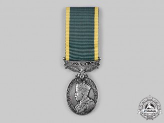 Canada. An Efficiency Medal, to Sergeant Thomas Melville Whorton, Victoria Rifles of Canada