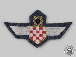 Croatia, Independent State. An Air Force Legion Insignia, Cloth Version